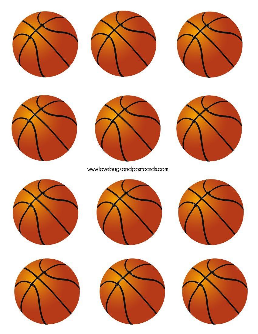 Basketball Cupcake Cake Made With Skittles Basketball Cupcakes Basketball Decorations Basketball