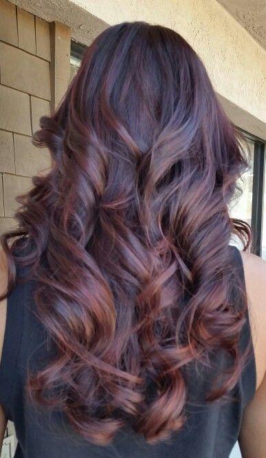 Dark brown with auburn highlights lowlights by jeanette hair dark auburn balayage ombre pmusecretfo Gallery