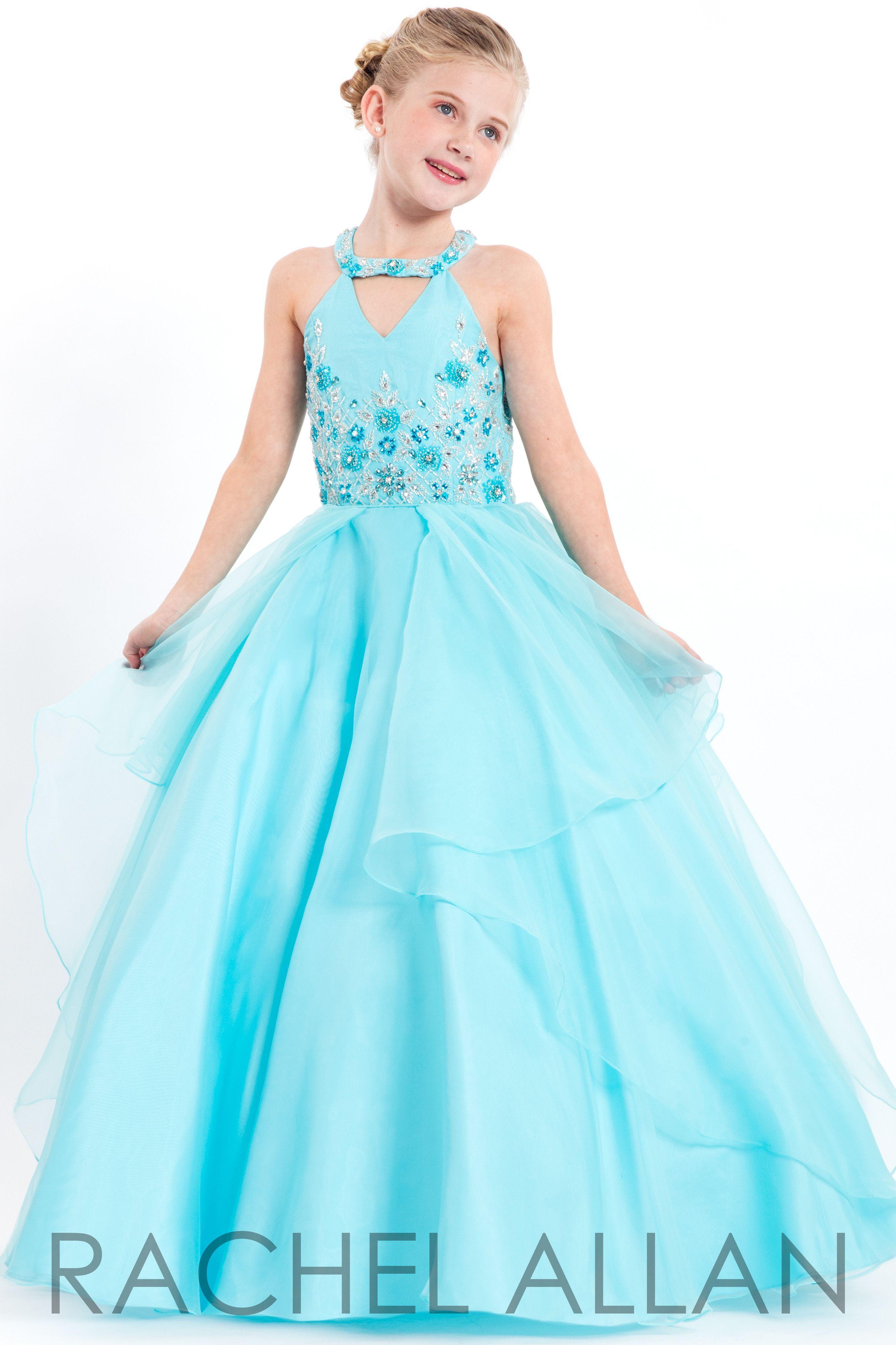 Perfect angels aqua girl pageant dress pinterest