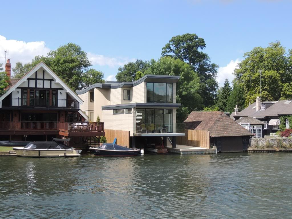 House design near river - Grand Designs House Boat Finished