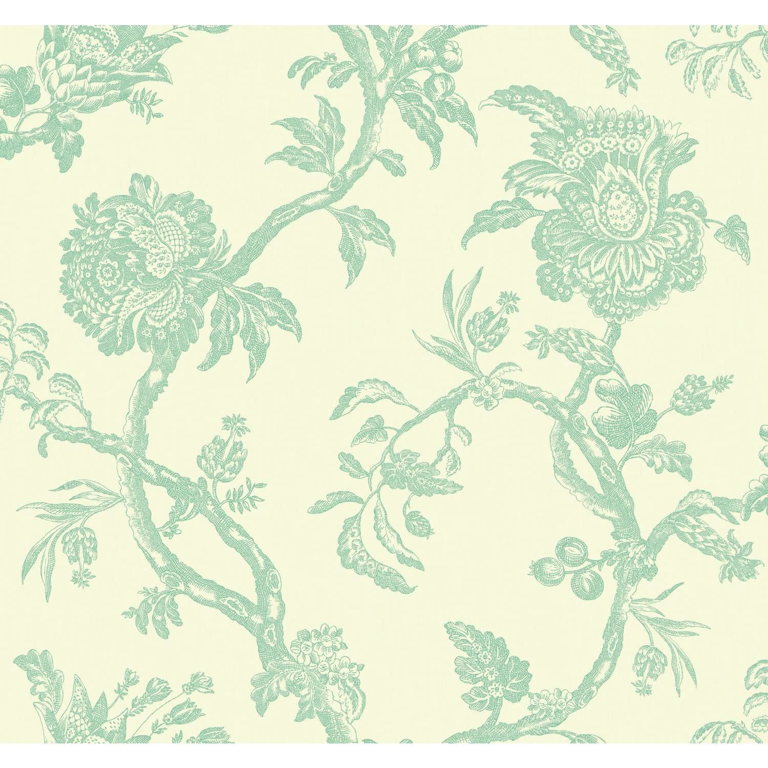 Williamsburg Ii 27 X 27 Arcadia Floral Texture Wallpaper