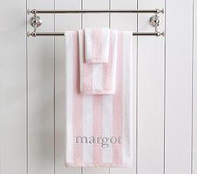 Rugby Stripe Bath Towel Collection Bath Towels Bathroom