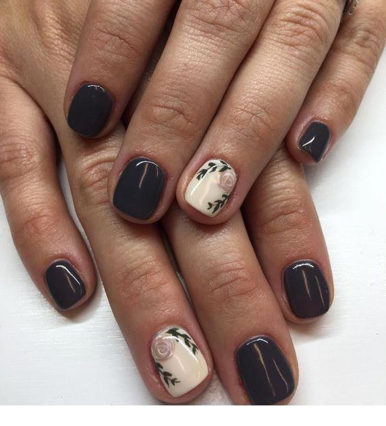 Matte Grey And White Nails With Details Inspiring Ladies Nail Designs Gel Nails Diy Nails