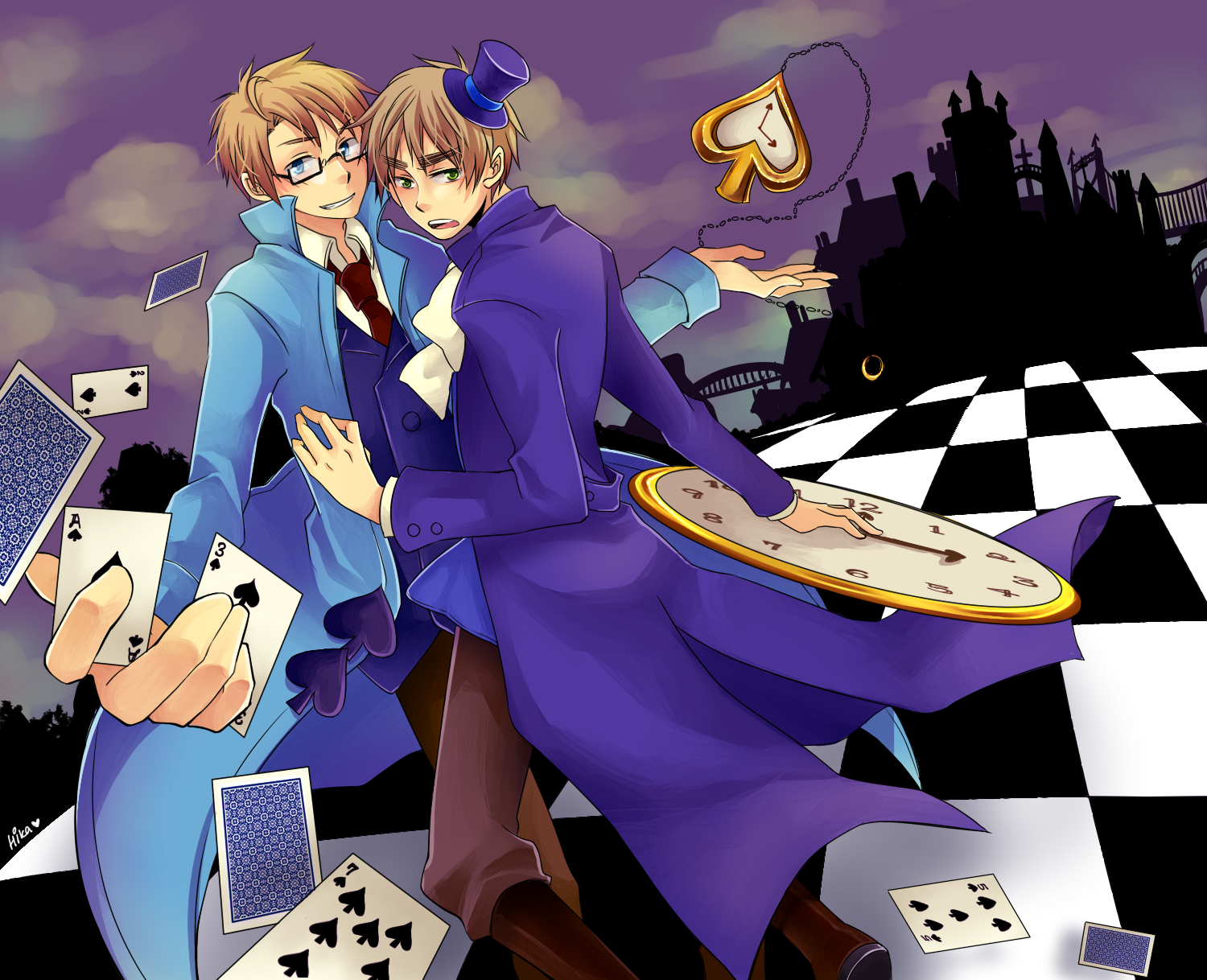 One Of My Favorite Usuk Cardverse Backgrounds America And England The King And Queen Of Spades