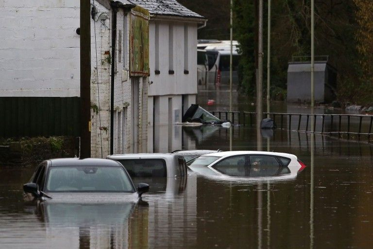 storm dennis flooding northwest england 2020; angry earth