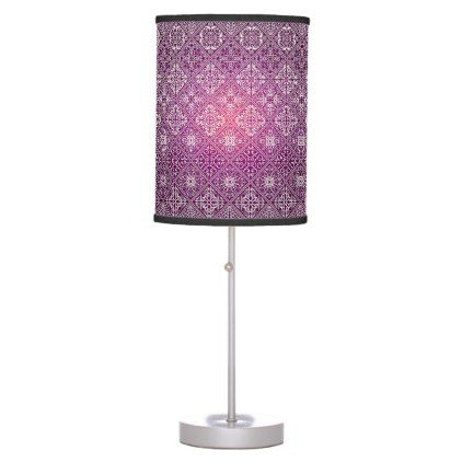 #home #lamps #decor - #Floral luxury royal antique pattern table lamp