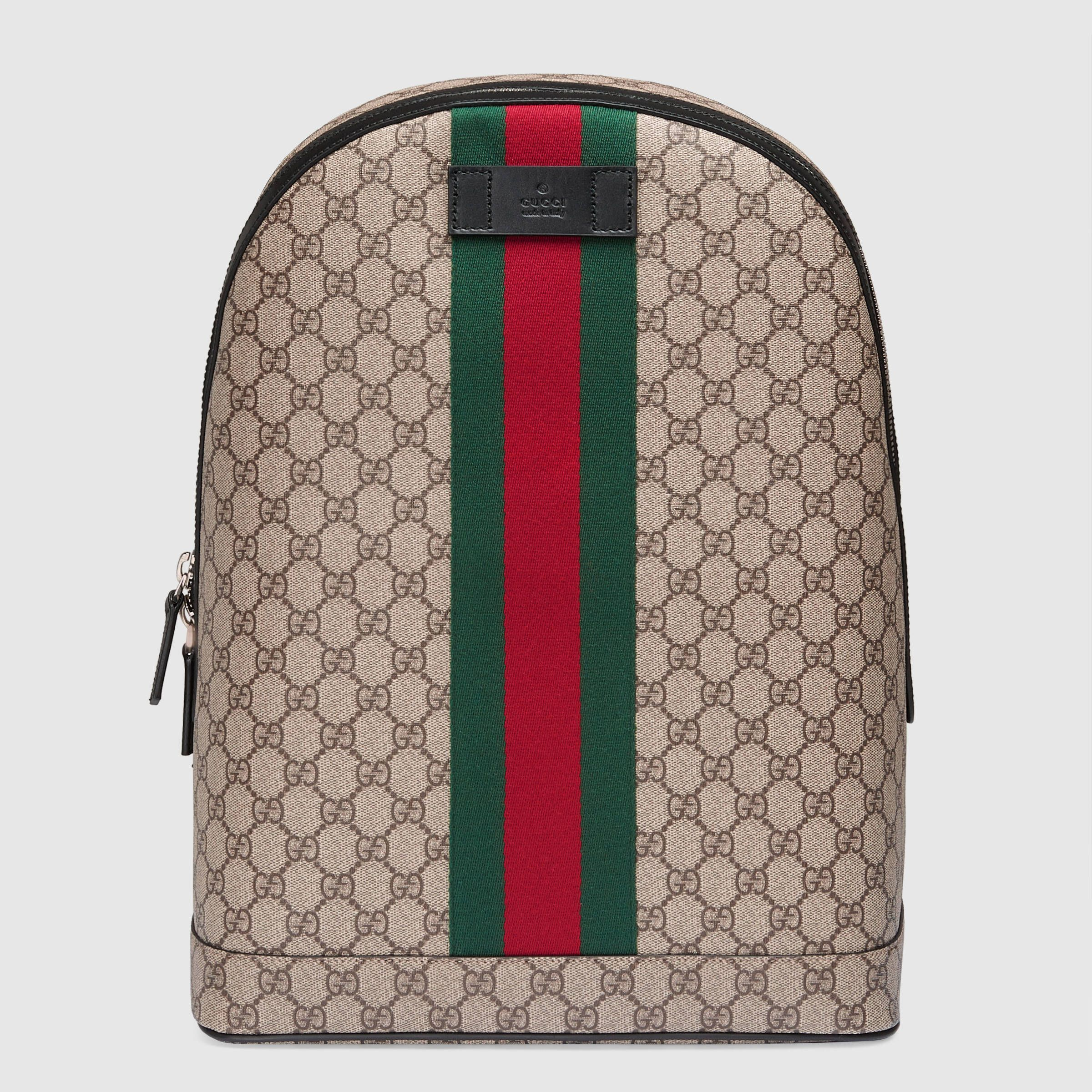 c9016bf0a7d9 Gucci Men - GG Supreme backpack with Web - 442722K2LVN9692 ...