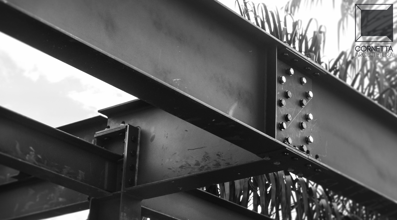 Casa pr 233 moldada de madeira casa pr 233 moldada - Em Obras Casa Em Estrutura Met Lica No Detalhe Conex O Estrutural Parafusada