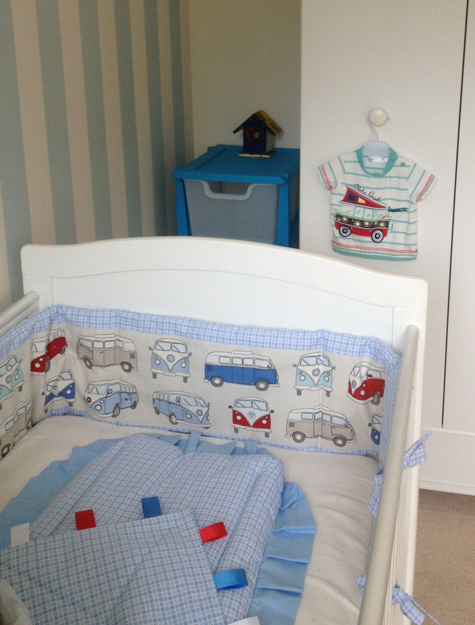 My babies campervan bedding beach theme / VW camper theme ...