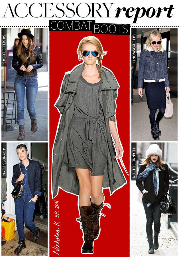Accessory Report: Combat Boots - Celebrity Style and Fashion from ...