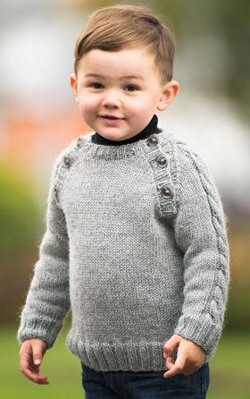 Knitted Boys Sweater Knit Whit Baby Pinterest Knitting