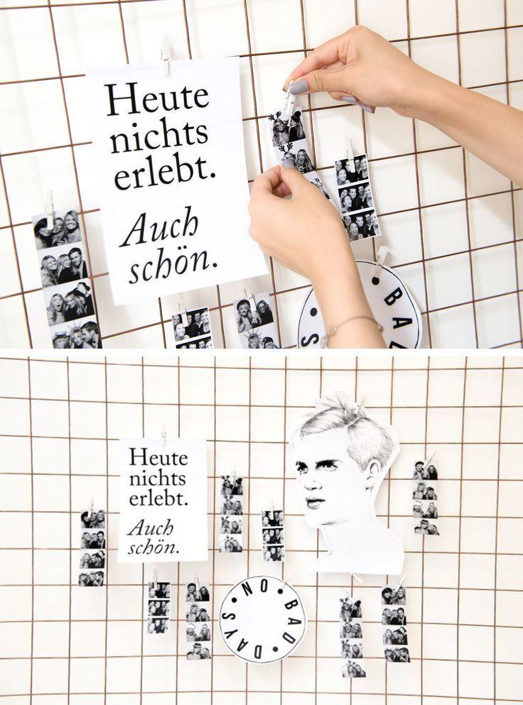 DIY: Foto-Drahtgitter