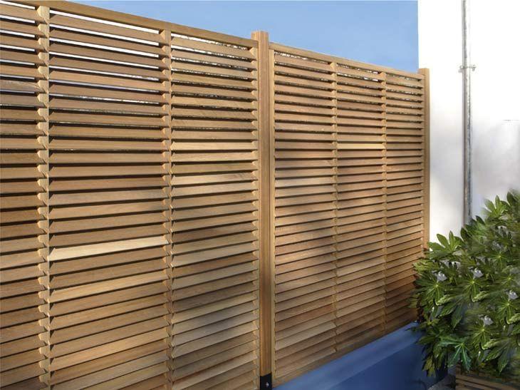 panneau bois jardin cloture jardin