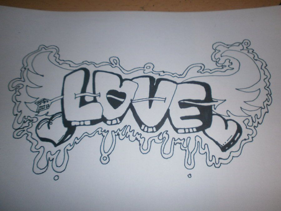 Love graffiti | Etchings | Pinterest | Graffiti, Drawings ...