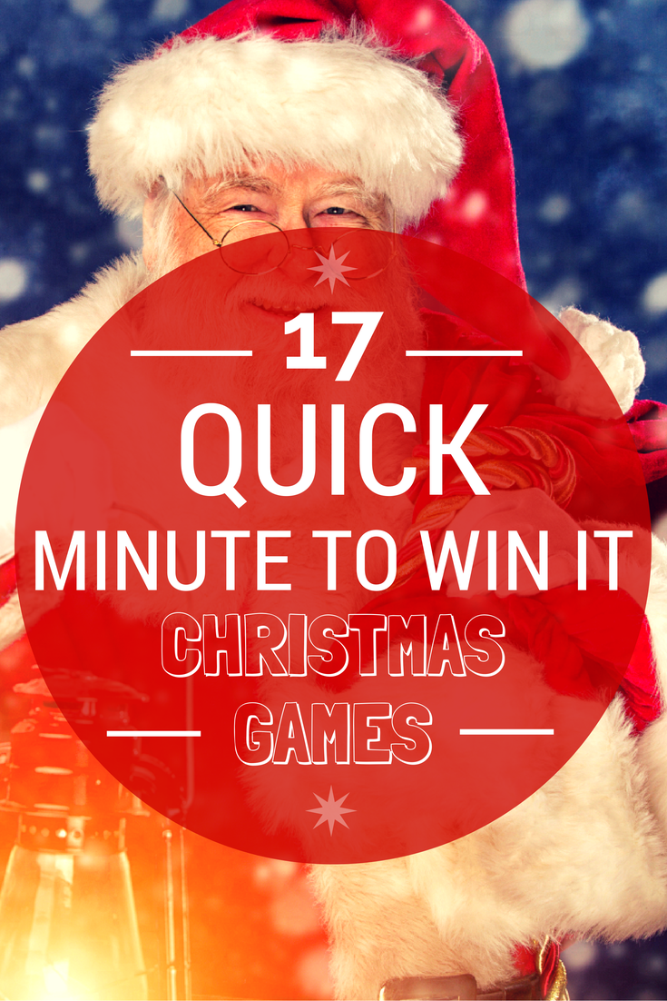 17 Quick Minute To Win It Christmas Games christmas