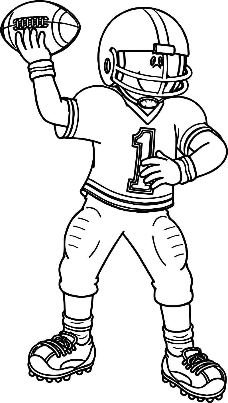 Football Player Sport Football Playing Football Coloring Page In 2020 Football Coloring Pages Sports Coloring Pages Football Players Images