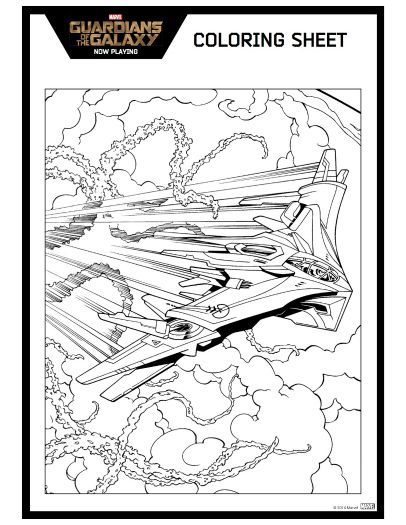 Free Guardians Of The Galaxy Printable Coloring Page Printable