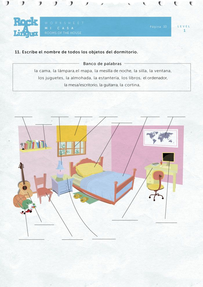 Printable Worksheets spanish preterite worksheets : Download this 21 page-long worksheet about rooms of the house in ...