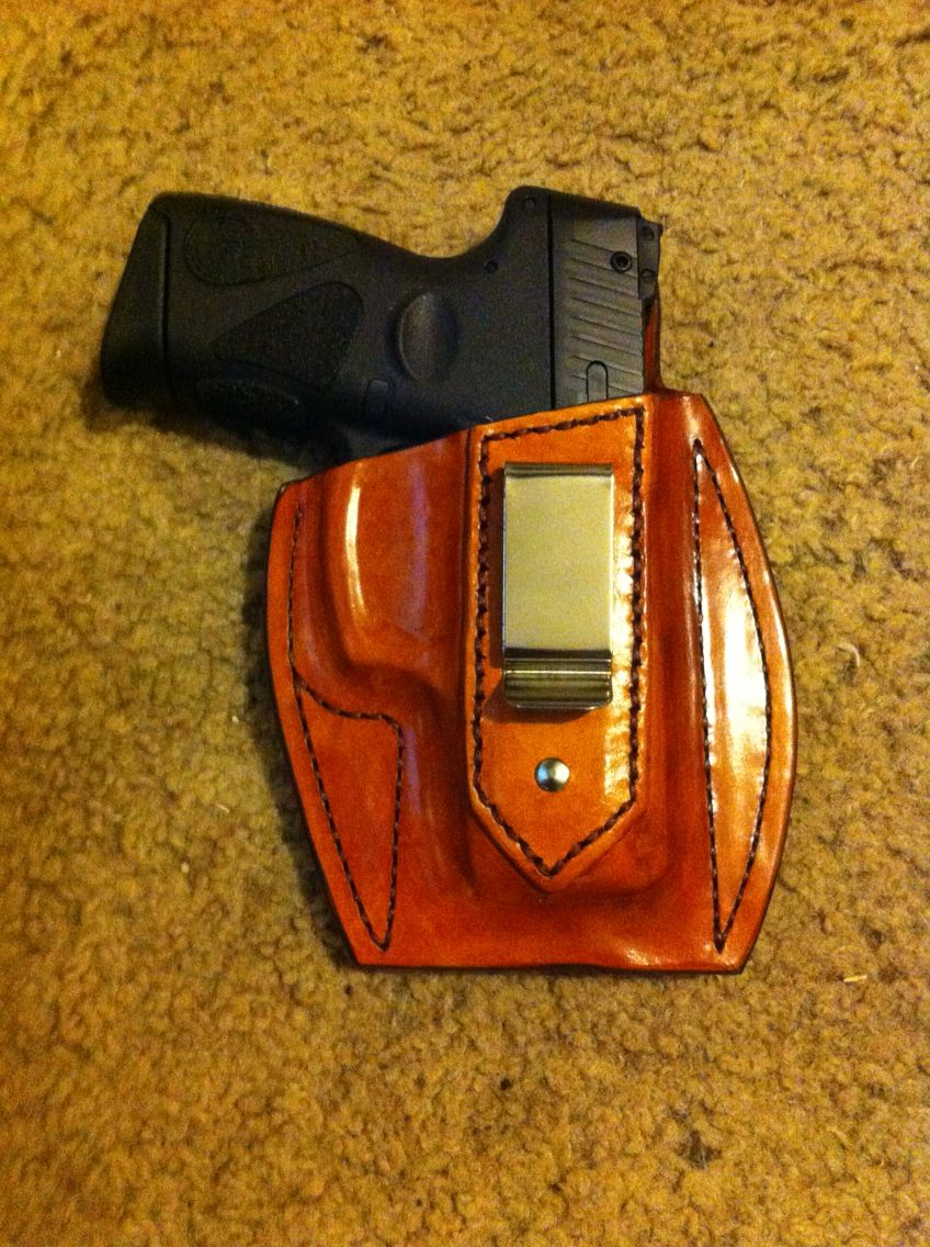 IBW leather pancake holster, custom fitted for Taurus 9mm