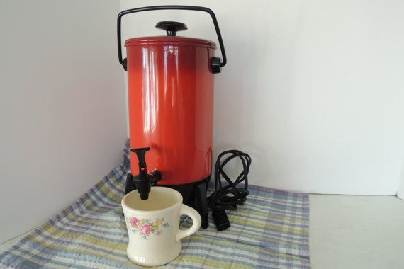 Percolator 22 Cup Mirro Matic Electric Poppy Red Great
