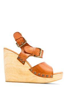 25d243f8514 MANGO Wood wedge sandal