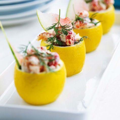 Få opskriften på Citroner med krebsehaler, melon og aioli