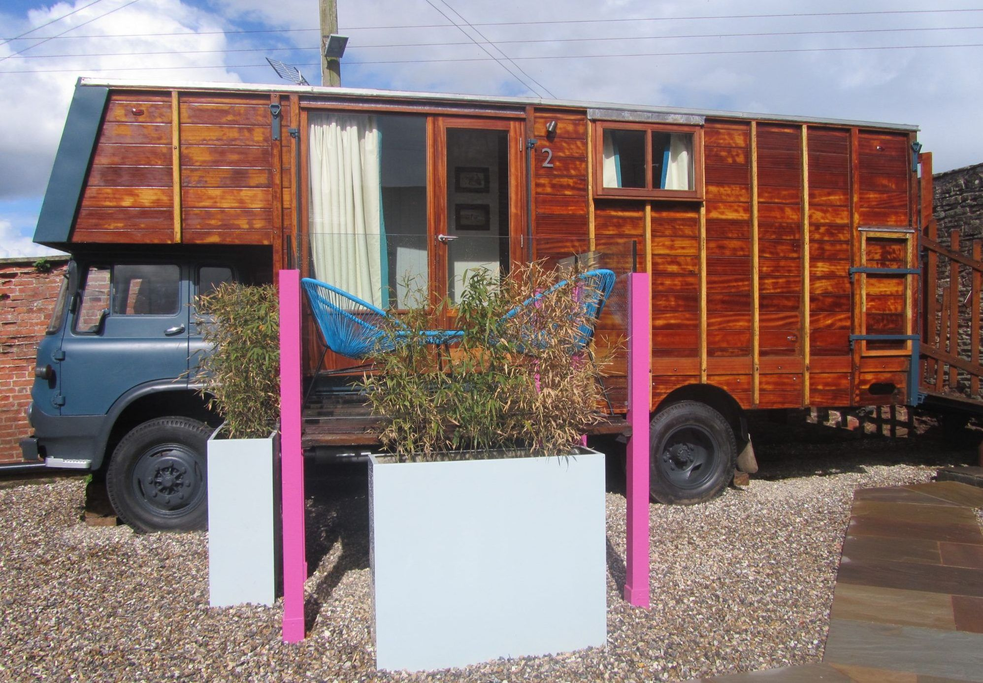 Glamping in a Horsebox in Herefordshire