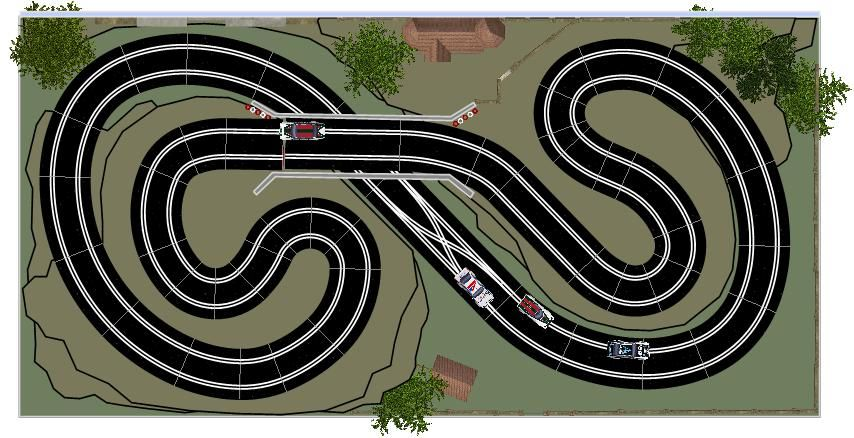 New Digital 8x4 Track Designs Page 9 Tracks Scenery Slotforum Page 9 In 2020 Scalextric Track How To Plan Slot Racing