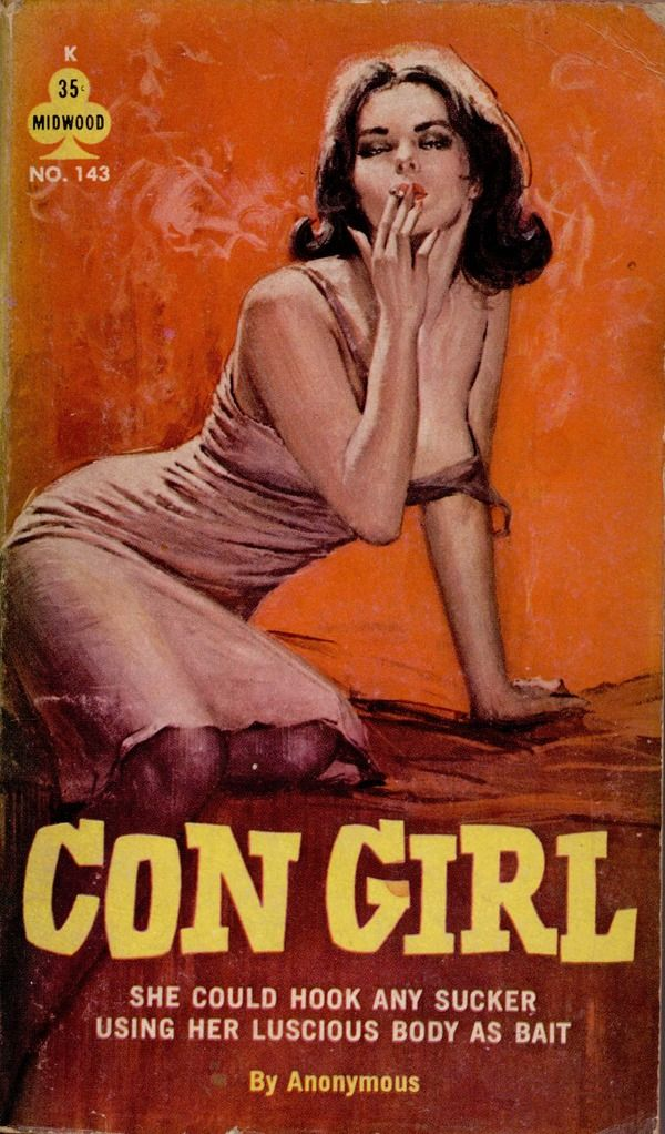 Con Girl Pulp Art Vintage Adult Erotic Cover Paperback