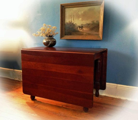 C1890 Antique Cherry Drop Leaf Gateleg Dining Table From