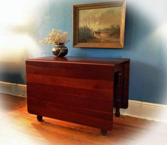 C1890 Antique Cherry Drop Leaf Gateleg Dining Table From Greentiques Drop Leaf Table Vintage Table Decor