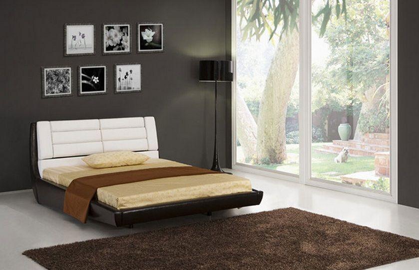Elegant Leather Modern Platform Bed Ontario California [ESFROMA] : Prime  Classic Design Inc.
