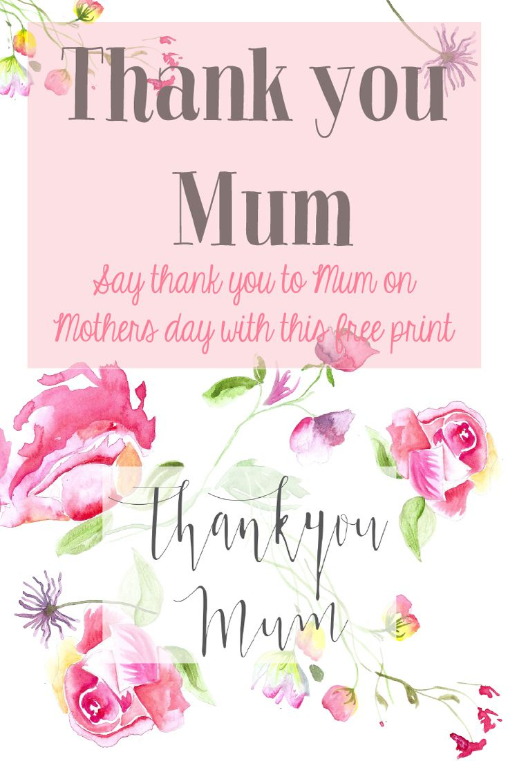 A Beautiful Thank You To Mum At The Last Minute Love Wonder
