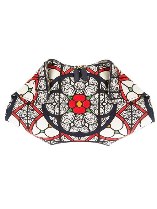 Alexander Mcqueen Stained Glass 'De Manta' Clutch