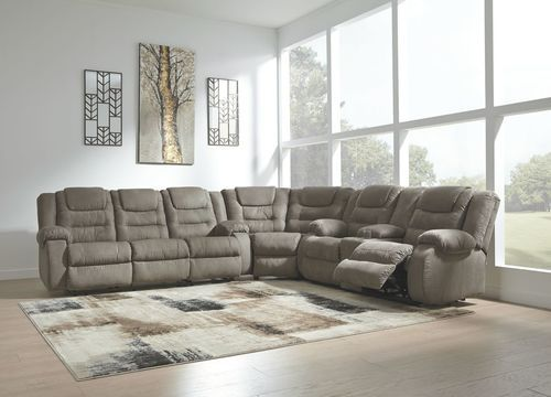 Pleasant Ashley Segburg Cobblestone Reclining Sofa Wedge Double Pabps2019 Chair Design Images Pabps2019Com