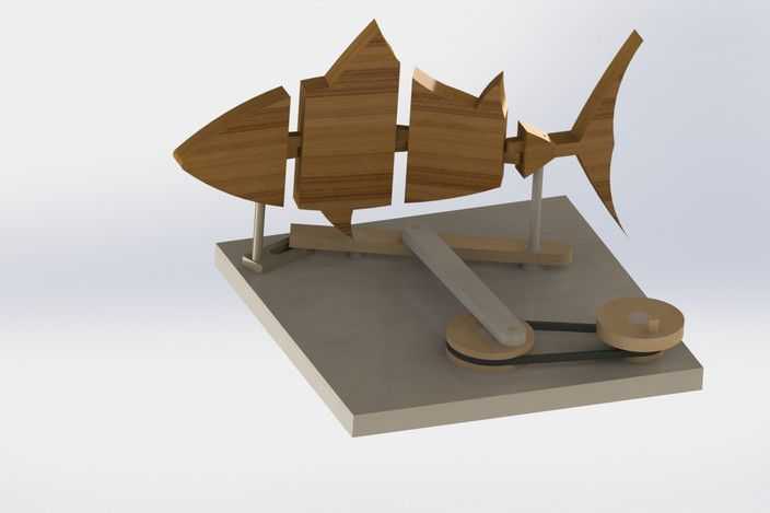 Fish Automata Pulley And Linkages Stream Art Pinterest
