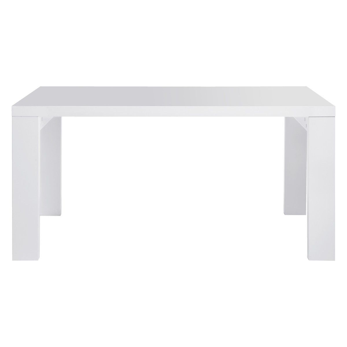 Argos White Dining Table And 6 Chairs: ASPER 6 Seat White High Gloss Dining Table