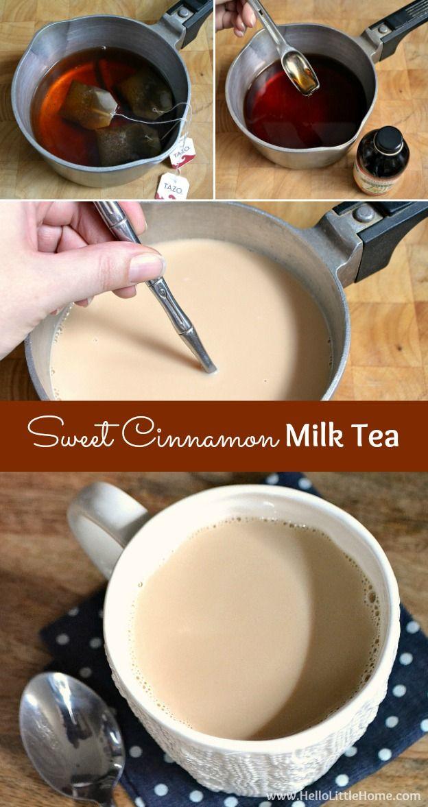 Sweet Cinnamon Milk Tea Recipe Milk Tea Recipes Tea Recipes Food
