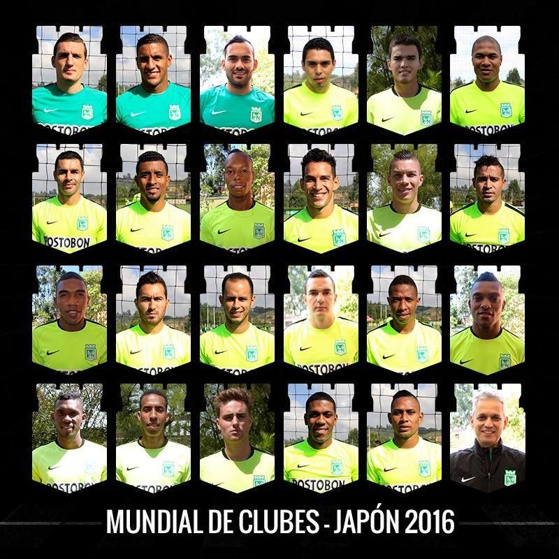Estos son los 23 verdolagas que nos representarán en el Mundial de Clubes de la FIFA – Japón 2016. #VamosNacional Estes são os 23 verdolagas que nos representarão no mundial de clubes da Fifa - Japão 2016. #Vamosnacional