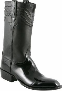 Mens Lucchese Classics Black Patent Calf Custom Hand-Made San ...