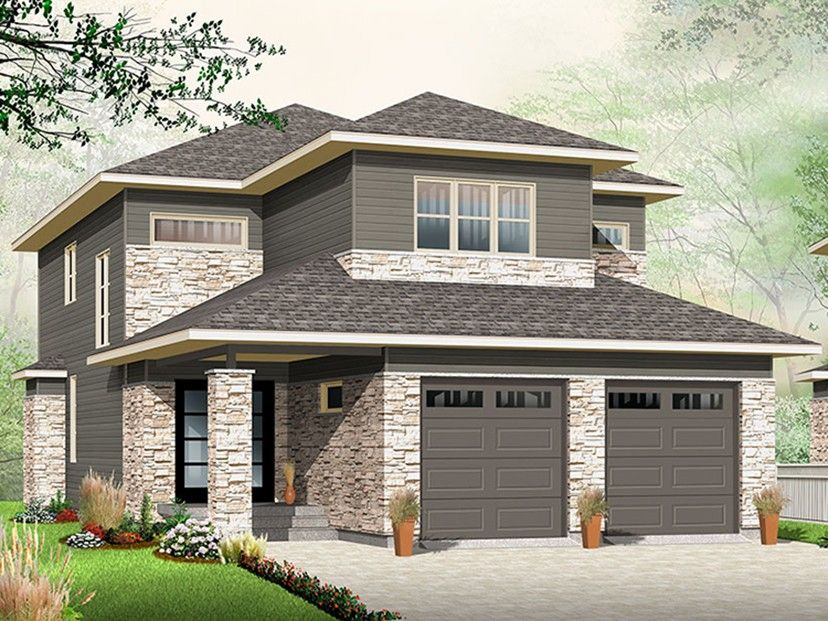 Contemporary Modern House Plan With 2288 Square Feet And 3 Bedrooms From Dream Modern Contemporary House Plans Contemporary House Plans Narrow Lot House Plans
