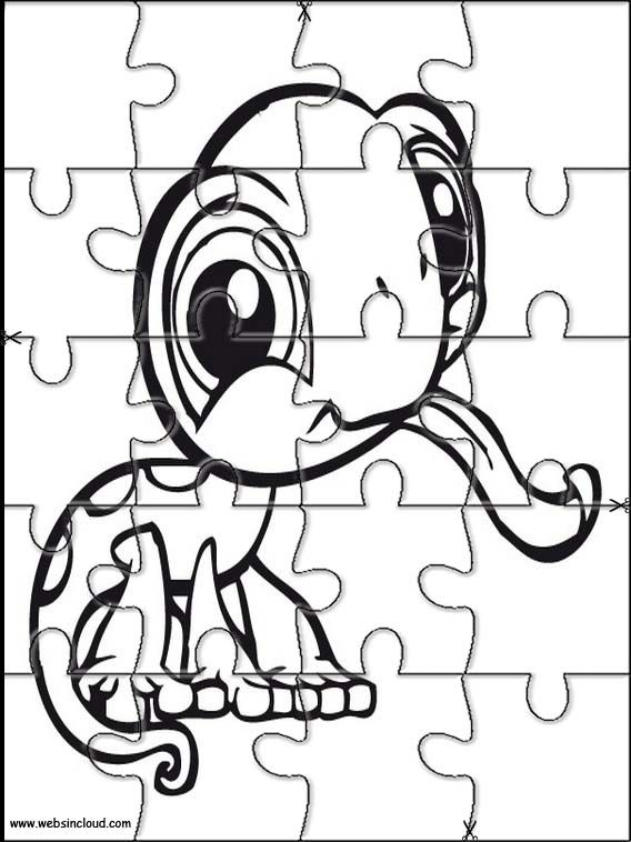 Printable jigsaw puzzles to cut out for kids Littlest pet shop 19 ...