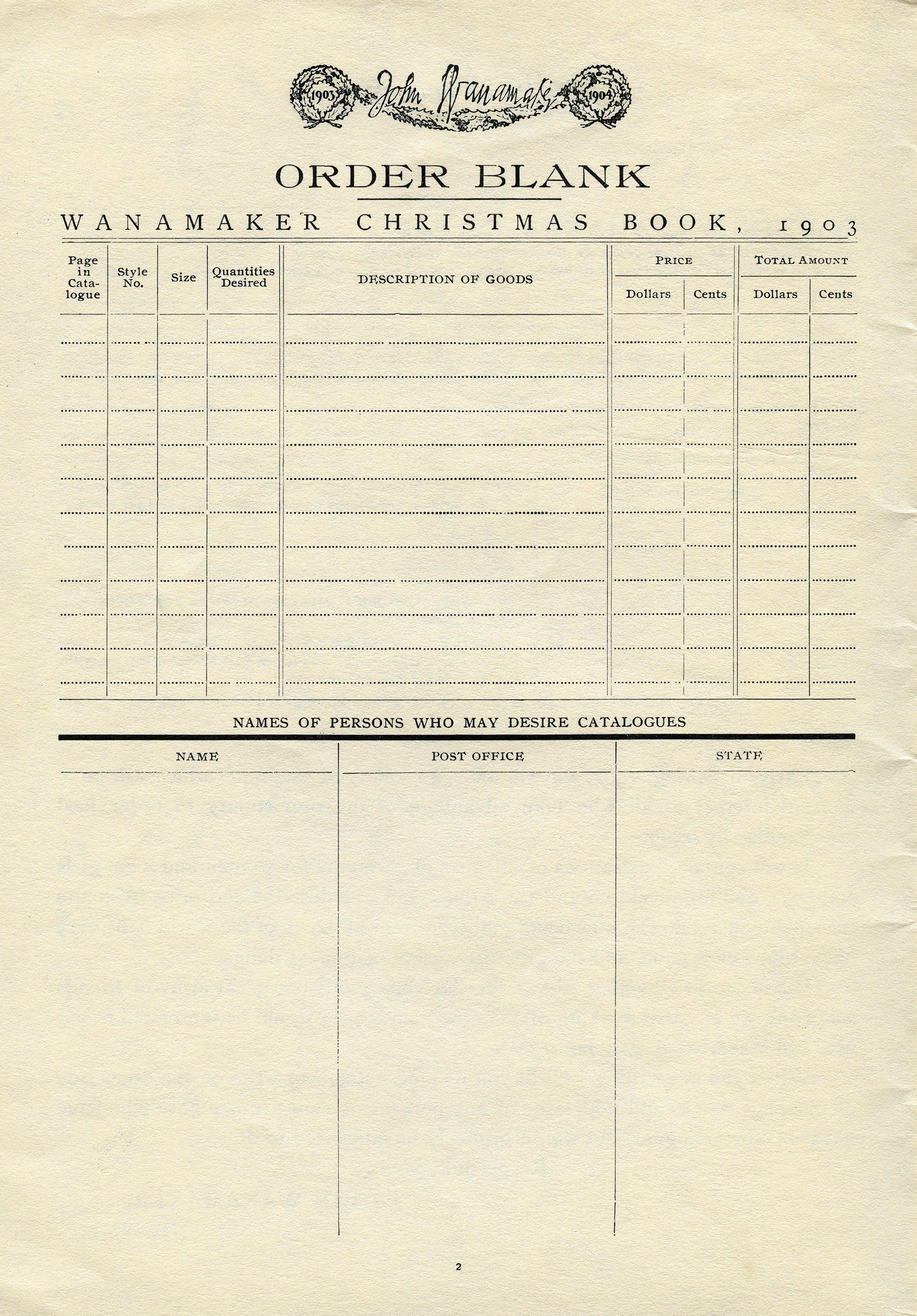 Vintage Ephemera Antique Catalogue Order Form Old Paper Graphics