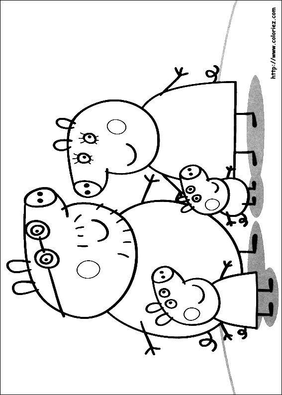Coloriage Peppa Pig à Colorier Dessin à Imprimer Card Ideas