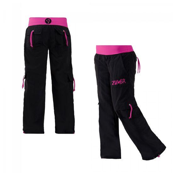 Zumba hose schwarz pink