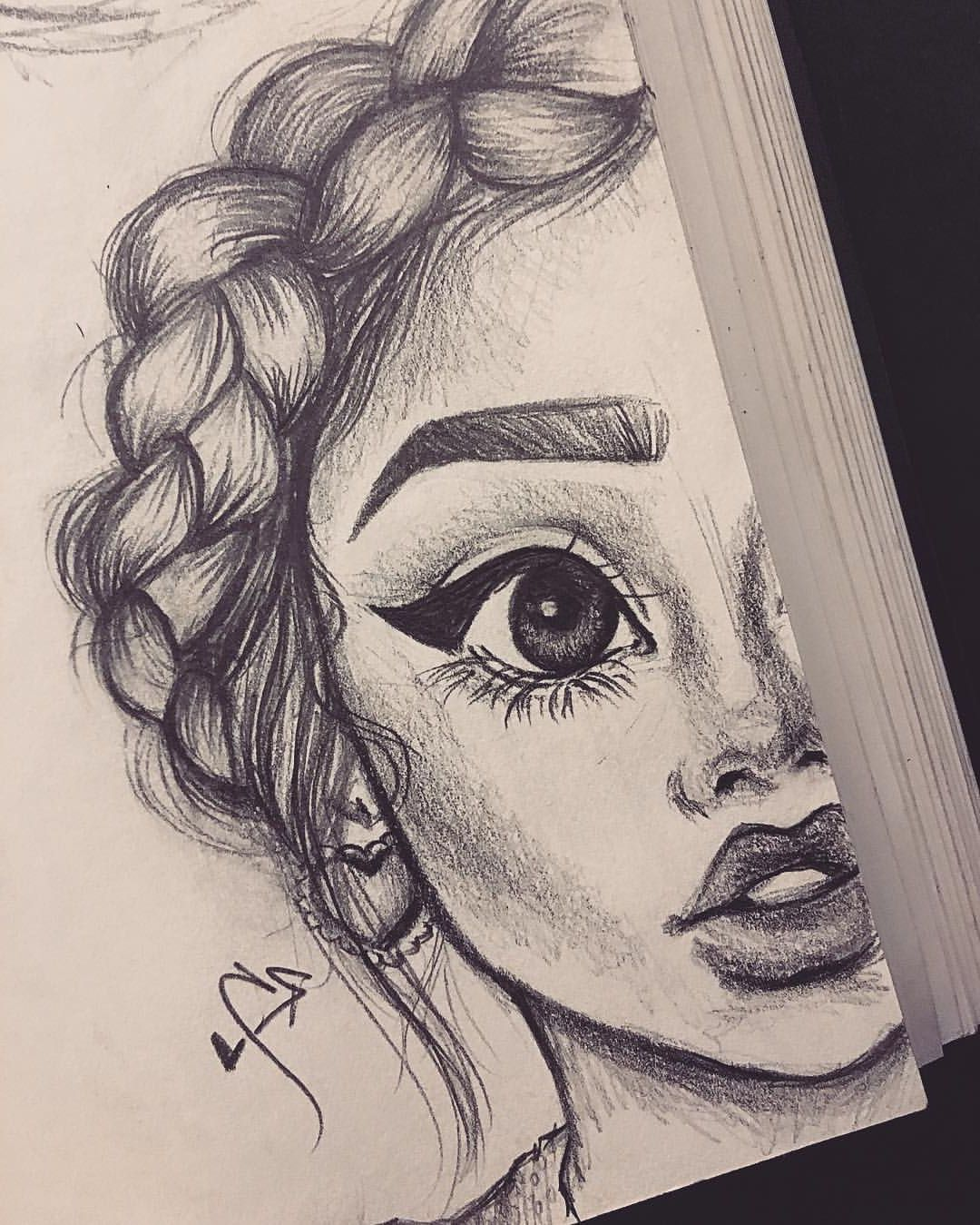 Cute Pencil Drawing Girl