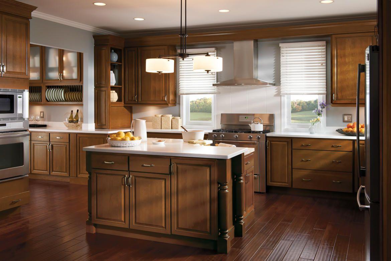 20 Stunning Kitchen Design Ideas With Mahogany Cabinets Small Kitchen Floor Plans Kitchen Design Menards Kitchen
