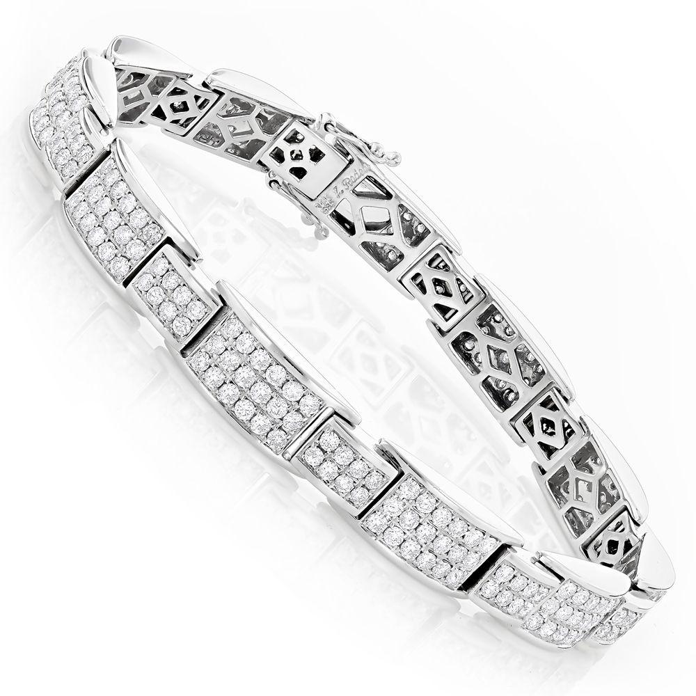 Dazzling pave diamond bracelet in k gold ct diamond