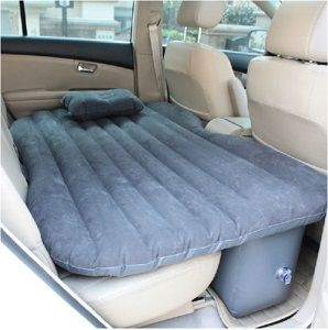 This Nice Inflatable Air Bed Mattress Fits In The Back Seat Of Your Car Or Suv And Provides Comfortable Tr Bed Cushions Air Mattress Camping Inflatable Car Bed