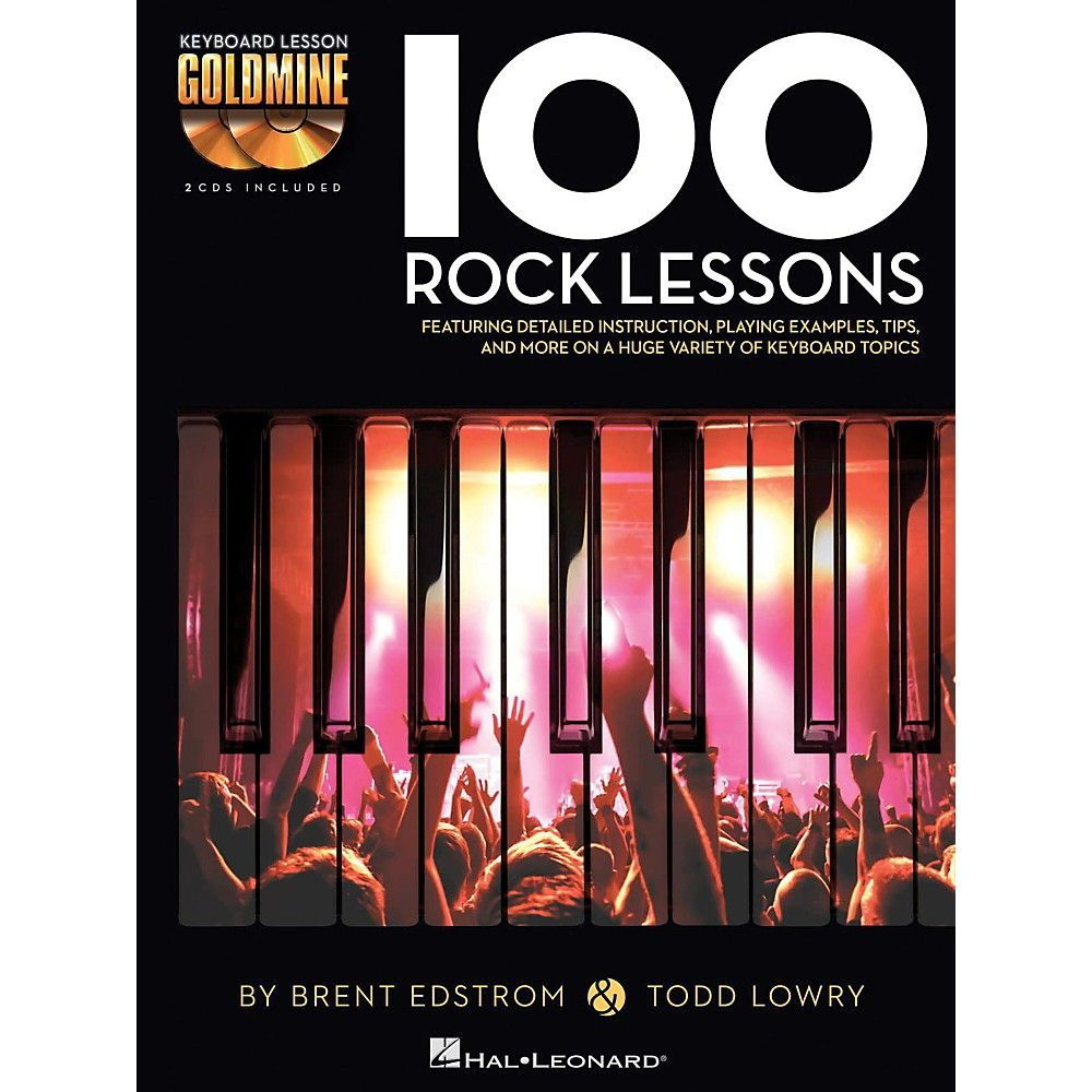 Hal Leonard 100 Rock Lessons - Keyboard Lesson Goldmine Series Book/2-CD  Pack